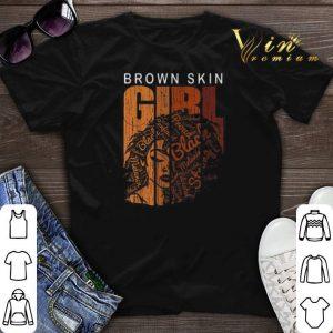 Brown skin girl black shirt sweater