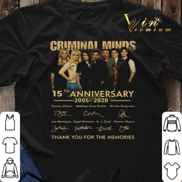 Criminal Minds 15th anniversary 2005 2020 signatures thank you for the memories shirt sweater