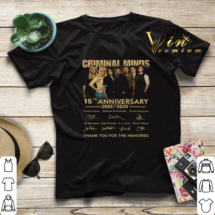 Criminal Minds 15th anniversary 2005 2020 signatures thank you for the memories shirt sweater 4 - Criminal Minds 15th anniversary 2005 2020 signatures thank you for the memories shirt sweater