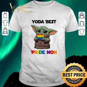 Funny LGBT Baby Yoda Best Pride Mom shirt sweater