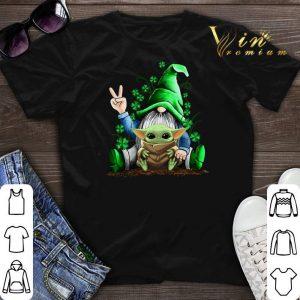 Gnome hug Baby Yoda Irish St. Patrick's day shirt sweater