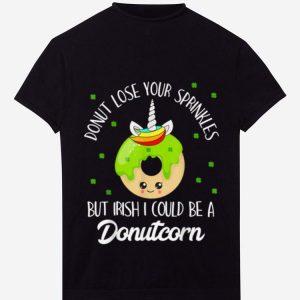 Great Donutcorn Funny Cute Donut Unicorn Irish St Patrick's Day shirt