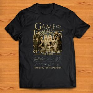 Great Game Of Thrones 09th Anniversary 2011 2020 Signatures shirt