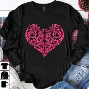Great Pink Swirly Heart shirt