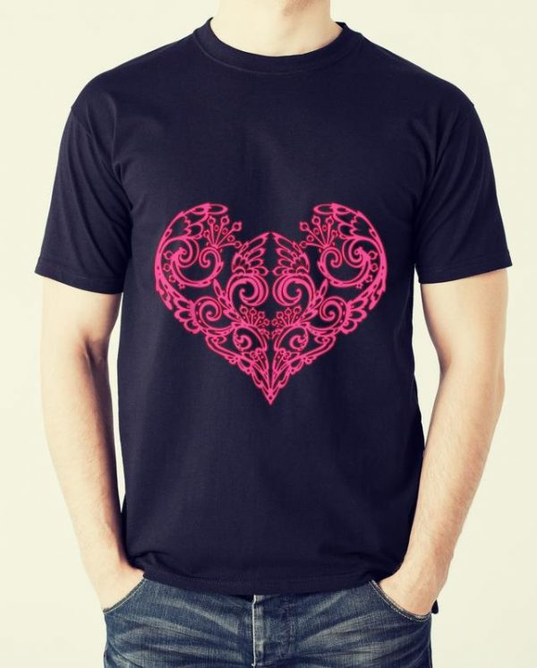 Great Pink Swirly Heart shirt