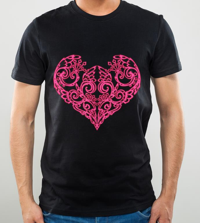 Great Pink Swirly Heart shirt 4 - Great Pink Swirly Heart shirt