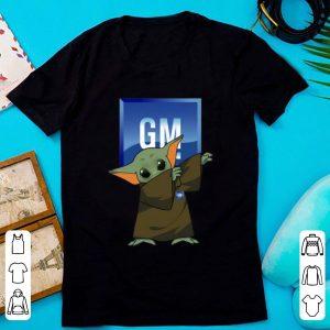 Hot Baby Yoda Dabbing General Motors shirt