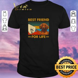 Hot Dachshund best friend for life vintage shirt sweater