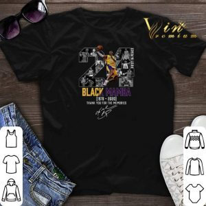 Kobe Bryant 24 Rest In Peace Black Mamba 1978 2020 thank you for the memories signed shirt sweater