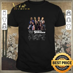 Nice Fast & Furious years of 2001 2020 10 movies signatures shirt sweater