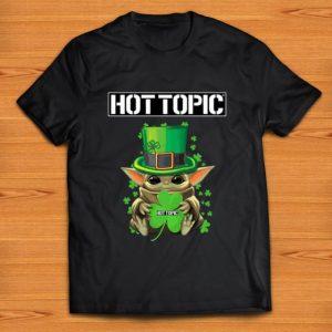 Nice Star Wars Baby Yoda Hottopic Shamrock St.Patrick's Day shirt