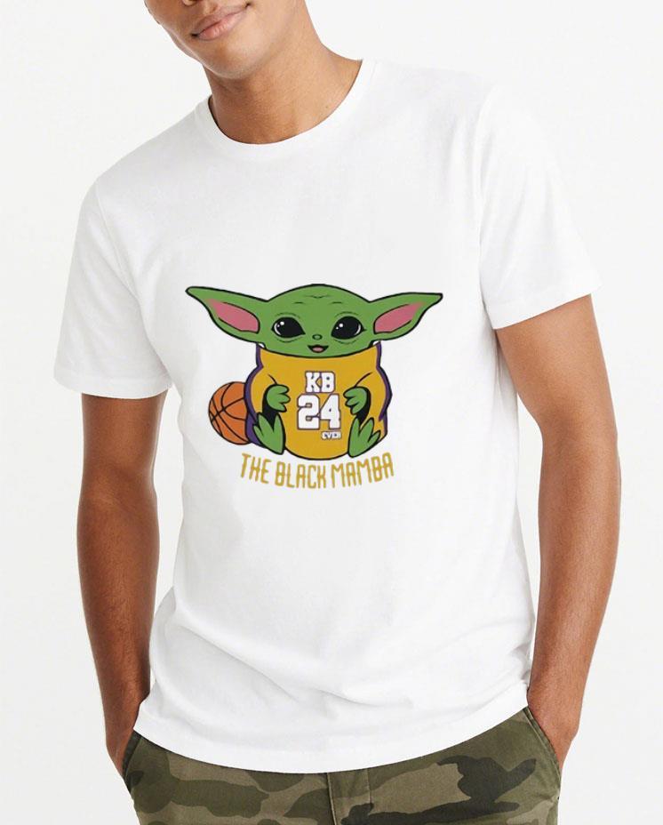 Official Baby Yoda Kobe Bryant KO8E24 The Black Mamba shirt 4 - Official Baby Yoda Kobe Bryant KO8E24 The Black Mamba shirt