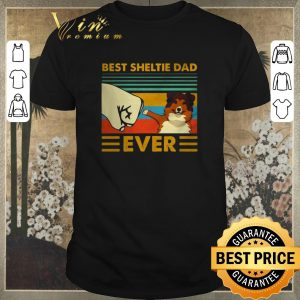 Official Best Sheltie dad ever vintage shirt sweater