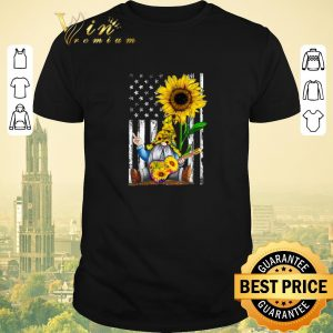 Official Sunflower Gnome Playing Guitar American Flag shirt sweater
