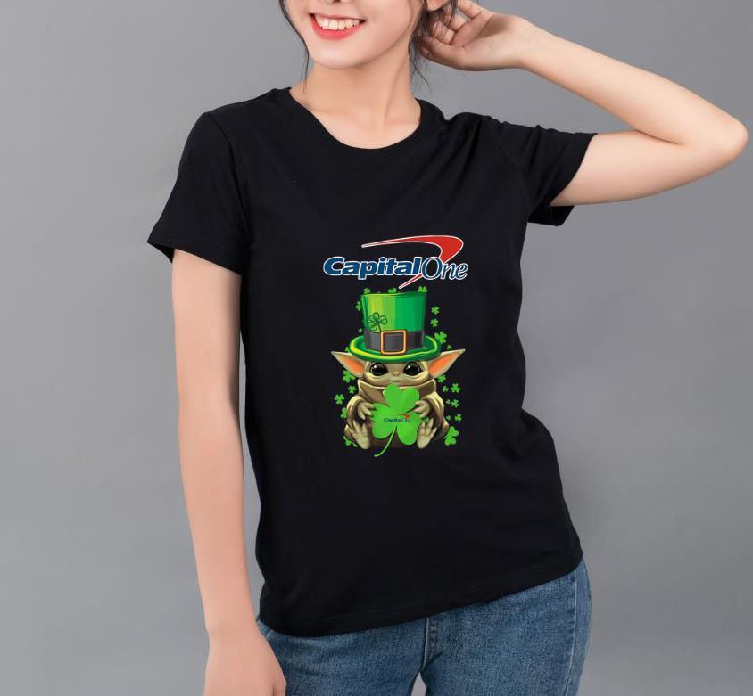 Original Baby Yoda Capital One Shamrock St Patrick s Day shirt 4 - Original Baby Yoda Capital One Shamrock St.Patrick's Day shirt