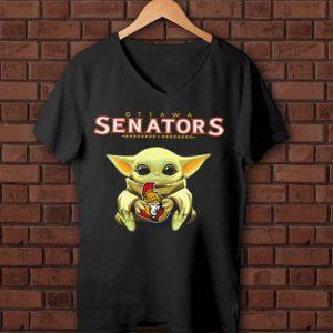 Original Star Wars Baby Yoda Hug Ottawa Senators National Hockey League shirt