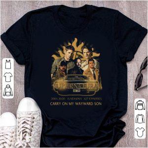 Premium Supernatural 2005 2020 15 seasons Carry On My Wayward Son shirt