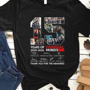 Pretty 15 Years Of Criminal Minds 2005-2020 Signatures shirt