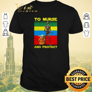 Pretty Baby Yoda and IG-11 to nurse and protect vintage shirt sweater
