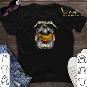 Skeleton Metallica Spain flag shirt sweater