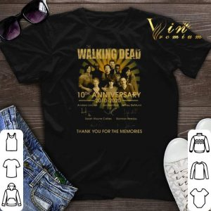 The Walking Dead character 10th anniversary 2010-2020 signatures shirt sweater