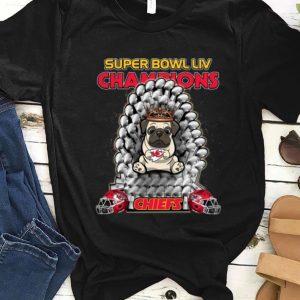 Top Pug Iron Throne Super Bowl LIV Champions Kansas City Chiefs shirt