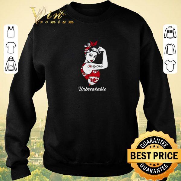 Top Strong Girl Go Kansas City Chiefs Unbreakable shirt sweater