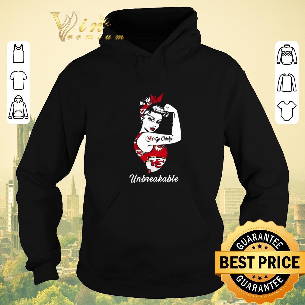 Top Strong Girl Go Kansas City Chiefs Unbreakable shirt sweater 4 - Top Strong Girl Go Kansas City Chiefs Unbreakable shirt sweater