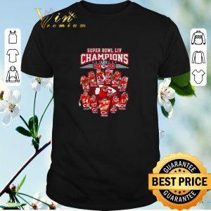 Top Super Bowl LIV Champions 2020 Kansas City Chiefs signatures shirt sweater