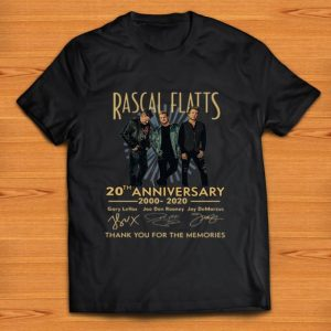 Awesome Rascal Flatts 20th Anniversary Thank You For The Memories Signatures shirt