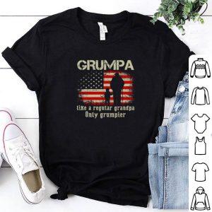 Best American flag Grumpa like a regular grandpa only grumpier shirt