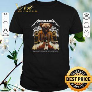 Funny Metallica Pug master of puppies shirt sweater