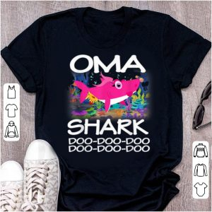 Great Oma Shark Matching Family Shark - Mothers Gift shirt