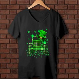 Great ST.Patrick's Day Luck Driving Jeep shirt