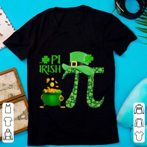 Great Shamrock Pi Irish Lucky Math Teacher St. Patrick's Day Coin shirt
