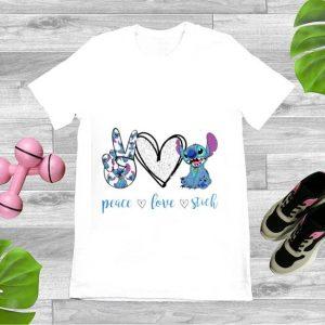 Hot Peace Love Stitch shirt