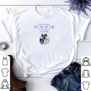 Join vs today at noon for pete the cat club live virtual storytime with James dean shirt sweater
