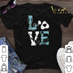 Love cat nurse pet paw shirt sweater