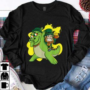 Nice Dabbing Dinosaur Leprechaun, St Patricks Day Kids Boys shirt