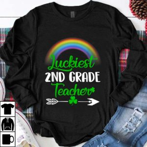 Nice Luckiest 2nd Grade Teacher St Patricks Day 2nd Grade Teacher shirt