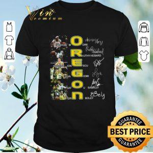 Nice Oregon Ducks all player signatures Minyon Moore Ruthy Hebard shirt sweater