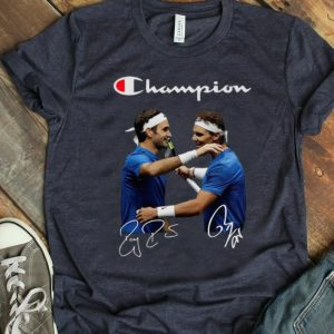 Official Champions Roger Federer And Rafael Nadal Signatures shirt