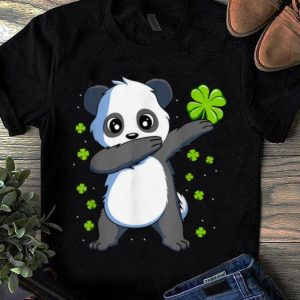 Official Dabbing Panda St Patricks Day Gift Boys Girls Dab shirt