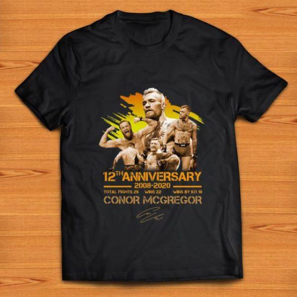 Original 12th Anniversary 2008 -2020 Conor McGregor Signature shirt