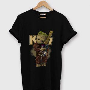 Original Baby Groot Hug Kiss Band Guitar shirt