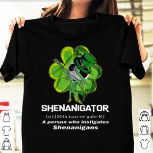 Original Dabbing Jack Skellington Shamrock Shenanigator Definition shirt