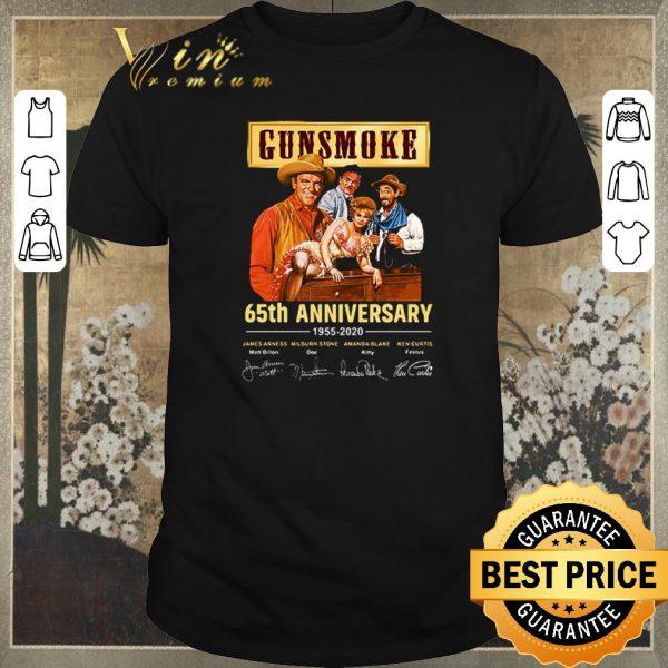 Original Gunsmoke 65th Anniversary 1955-2020 signatures thank you for the memories shirt sweater