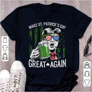 Original Make St Patricks Day Great Again Trump Men Women Tee Gift shirt