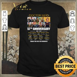 Pretty Doctor Who 57th Anniversary 1963-2020 signed thank for memories shirt sweater