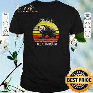 Pretty Live Ugly Fake Your Death Opossum Sunset shirt sweater